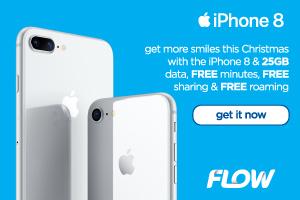 Flow Cayman - iPhone 8 Christmas 2017