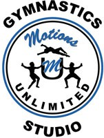 Motions Unlimited Gymnastics Club Logo