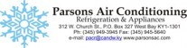Parsons Air Conditioning - Refrigeration & Appliances Logo