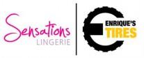 Sensations Lingerie & Enrique's Tires Logo