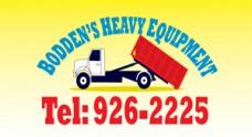 Bodden's Heavy Equipment & Rentals Logo