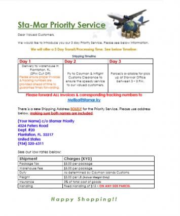 Sta-Mar Enterprises Sta-Mar Enterprises Cayman Islands