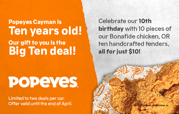 Popeyes Louisiana Kitchen Popeyes Louisiana Kitchen Cayman Islands